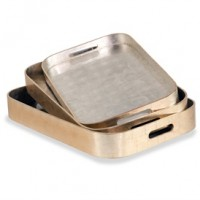 Itld Essex Rounded Trays - Gold Silver 988055