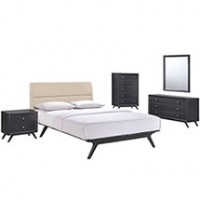 Mod Addison 5 piece Queen Bedroom Set $2399 5341-BLK-BEI