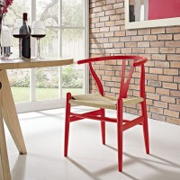 Mod Amish Dining Wood Armchair $229 EEI-552-RED_4_