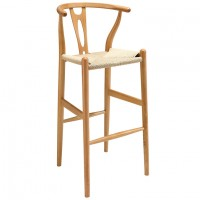 Mod Amish Wood Bar Stool $279 EEI-1079-NAT