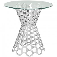Mod Arrange Glass Top Side Table $299 EEI-2106-SLV