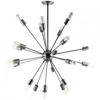 Mod Beam Stainless Steel Chandelier EEI-1562