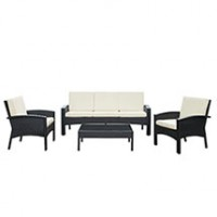 Mod Brook 4 piece Outdoor Patio Sofa Set EEI-971-EXP-WHI-SET