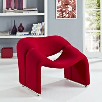 Mod Cusp Lounge Chair $549 EEI-1052-RED
