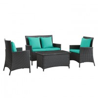 Mod Flourish 4 piece Outdoor Patio Sofa Set EEI-964-EXP-TRQ-SET_1_