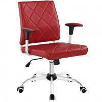 Mod Lattice Vinyl Office Chair $149 EEI-1247-RED