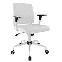Mod Lattice Vinyl Office Chair $149 EEI-1247-WHI