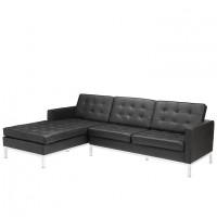 Mod Loft left facing leather Sectional Sofa black EEI-1046-BLK_1_