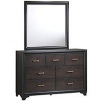 Mod Madison Dresser and Mirror 5246-WAL-SET