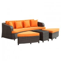 Mod Monterey 4 piece Outdoor Patio Sofa Set EEI-992-BRN-ORA-SET_1_