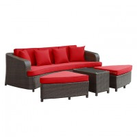 Mod Monterey 4 piece Outdoor Patio Sofa Set EEI-992-BRN-RED-SET_1_