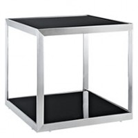 Mod Open Box Side Table black silver $319 EEI-261-BLK