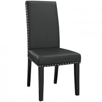Mod Parcel Dining Vinyl Side Chair $149 EEI-1491-BLK