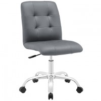 Mod Prim Armless Mid Back Office Chair $149 EEI-1533-GRY