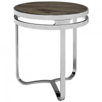 Mod Provision Wood Top Side Table brown silver $419 EEI-1214-BRN_1_