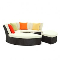 Mod Pursuit Circular Outdoor Patio Daybed Set EEI-956-EXP-WHI-SET