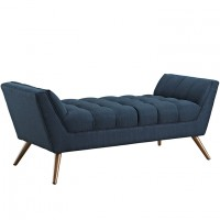 Mod Response Medium Fabric Bench $499 EEI-1789-AZU