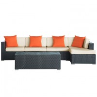 Mod Signal 5 piece Outdoor Patio Wicker Sectional Set EEI-728-SET_1_
