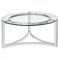 Mod Signet Stainless Steel Coffee Table silver $349 EEI-1438-SLV_1_