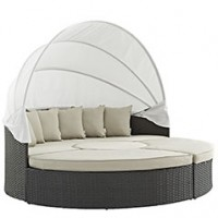 Mod Sojourn Outdoor Patio Daybed EEI-1986-CHC-BEI