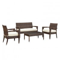 Mod Stride 4 piece outdoor Patio Sofa Set brown EEI-1000-BRN-WHI-SET_1_