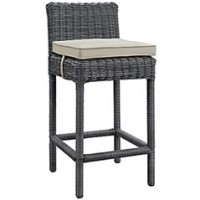 Mod Summon Outdoor Patio Bar Stool EEI-1960-GRY-BEI