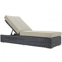 Mod Summon Outdoor Patio Chaise Lounge EEI-1876-GRY-BEI