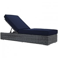Mod Summon Outdoor Patio Chaise Lounge EEI-1876-GRY-NAV