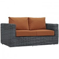 Mod Summon Outdoor Patio Loveseat EEI-1865-GRY-TUS