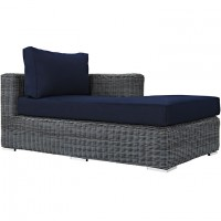 Mod Summon Outdoor Patio Right Arm Chaise EEI-1873-GRY-NAV