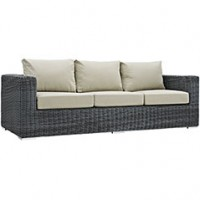 Mod Summon Outdoor Patio Sofa EEI-1874-GRY-BEI