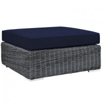 Mod Summon Outdoor Patio Square Ottoman EEI-1875-GRY-NAV