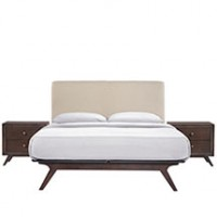 Mod Tracy 3 piece Queen Bedroom Set $1399 5261-CAP-BEI