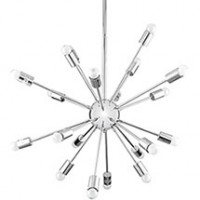 Mod Volley Chandelier EEI-1234-SLV