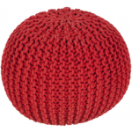 SY Pouf Malmo bright red mlpf003