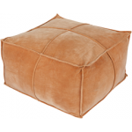 SY Pouf cotton velvet burnt orange cvpf003