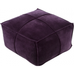 SY Pouf cotton velvet dark purple cvpf006
