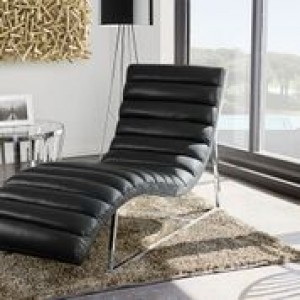 DS Chaise Lounge Bardot $550 in black or white or grey
