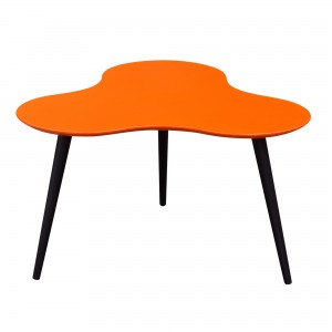 DS Coffee Table Beacon $150 in matte orange or black and black legs