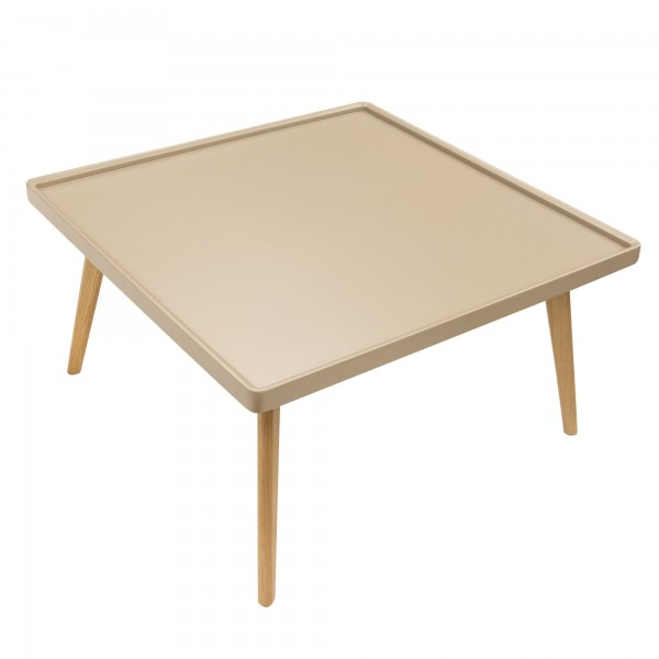 DS Coffee Table Cafe tray edge $125 in matte taupe or black and oak legs