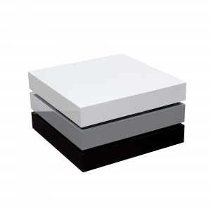 DS Coffee Table Swivel Spark $375 in gloss white grey black