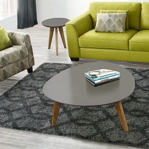 DS Coffee and End Table Set Trio $320 in grey or orange and oak legs