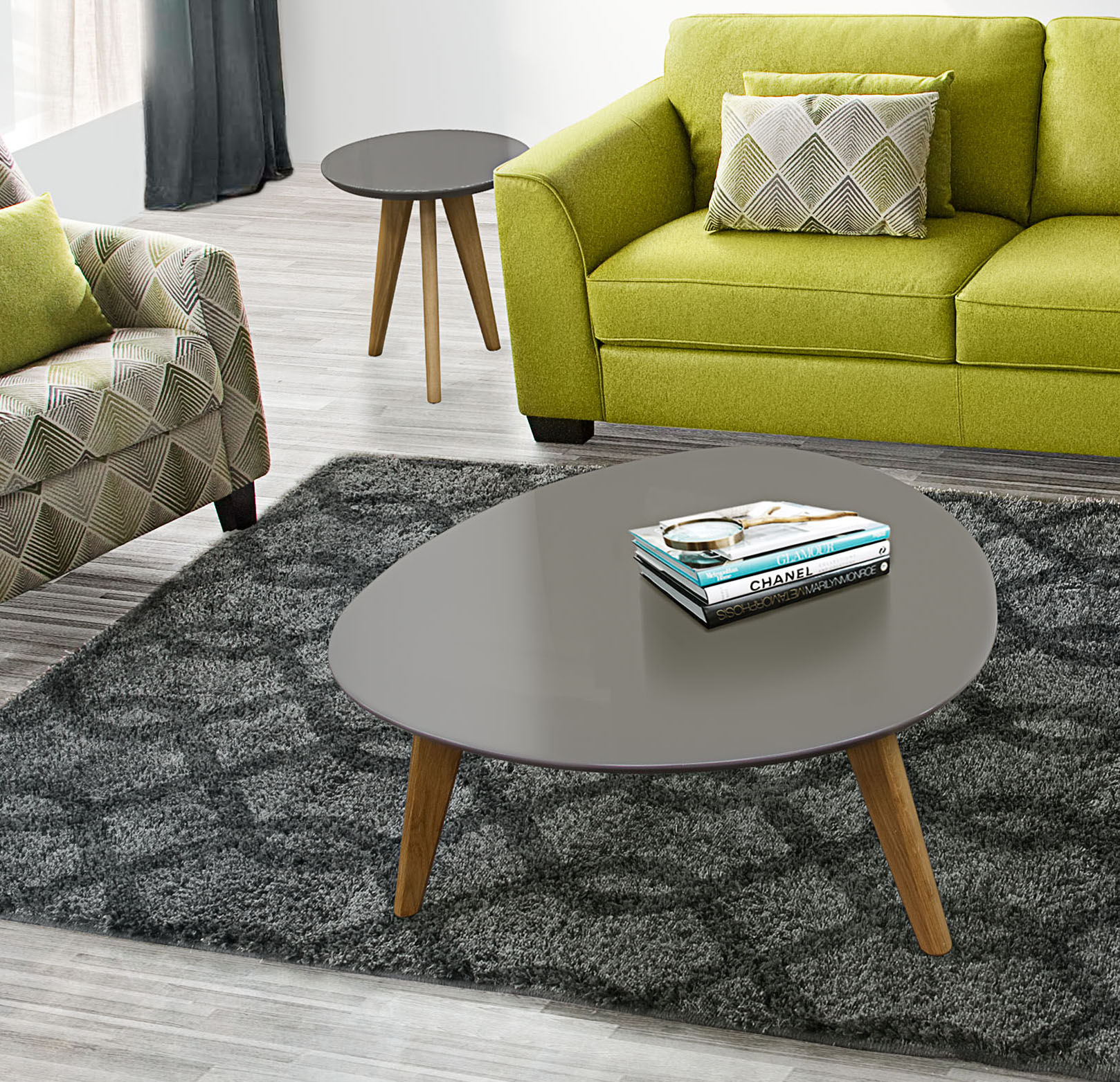 - DS Coffee And End Table Set Trio – POP N Décor