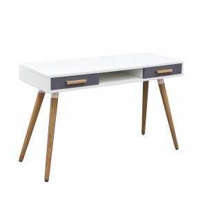 DS Desk Echo $200 in matte white grey and oak legs