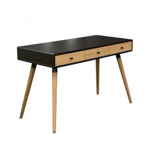 DS Desk Sonic $260 in matte black oak and oak legs