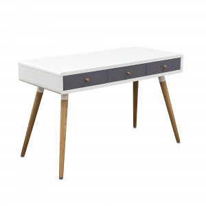 DS Desk Sonic $260 in matte white grey and oak legs