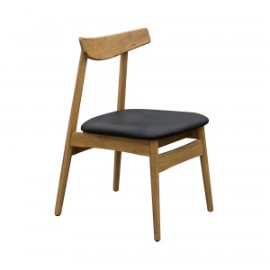 DS Dining Chair Cliff $165 in black pu and oak frame