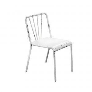 DS Dining Chair Mercer $80 in antique white or gun metal grey