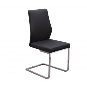 DS Dining Chair Verona $110 each in black or taupe pu chrome legs (2 in box $220)