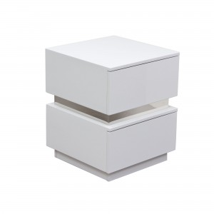DS End Table Elle $200 in gloss white or gloss black or ash finish with drawers
